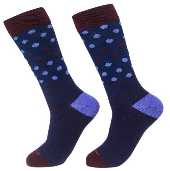 Socks-Dripes-Cool-Patterns-Crew-Socks-navy