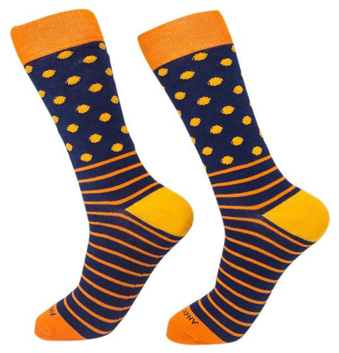 Socks-Dripes-Cool-Patterns-Crew-Socks-orange