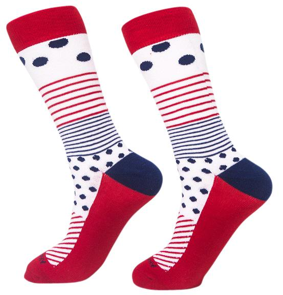 Socks-Even-More-Stripes-Cool-Patterns-Crew-Socks-red