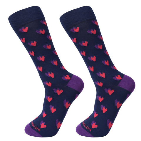 Socks-Heart-Cool-Patterns-Crew-Socks