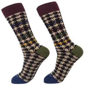 Socks-Houndstooth-Cool-Patterns-Crew-Socks-classic