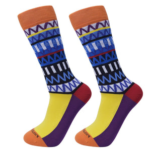 Maximalist Funk Patterned Socks by Philosockphy