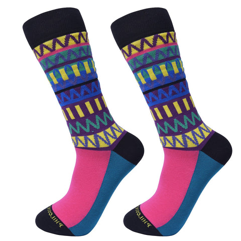 Maximalist Funk Patterned Socks (Blue) by Philosockphy
