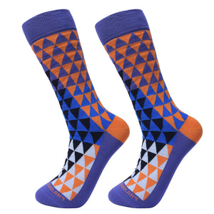 Socks-Trigons-Cool-Patterns-Crew-Socks-purple-2
