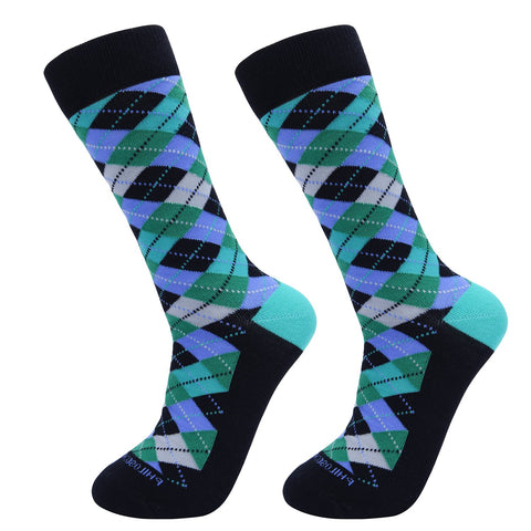 Socks-Argyle-Cool-Patterns-Crew-Socks-Blue