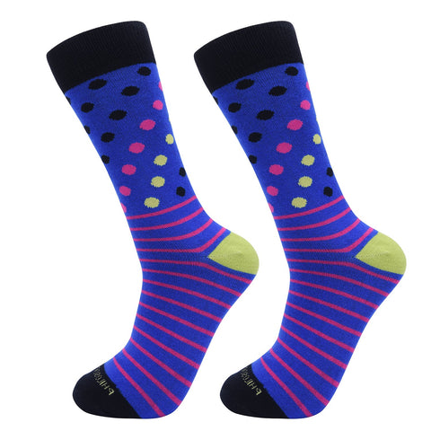Socks-Dripes-Cool-Patterns-Crew-Socks-Blue