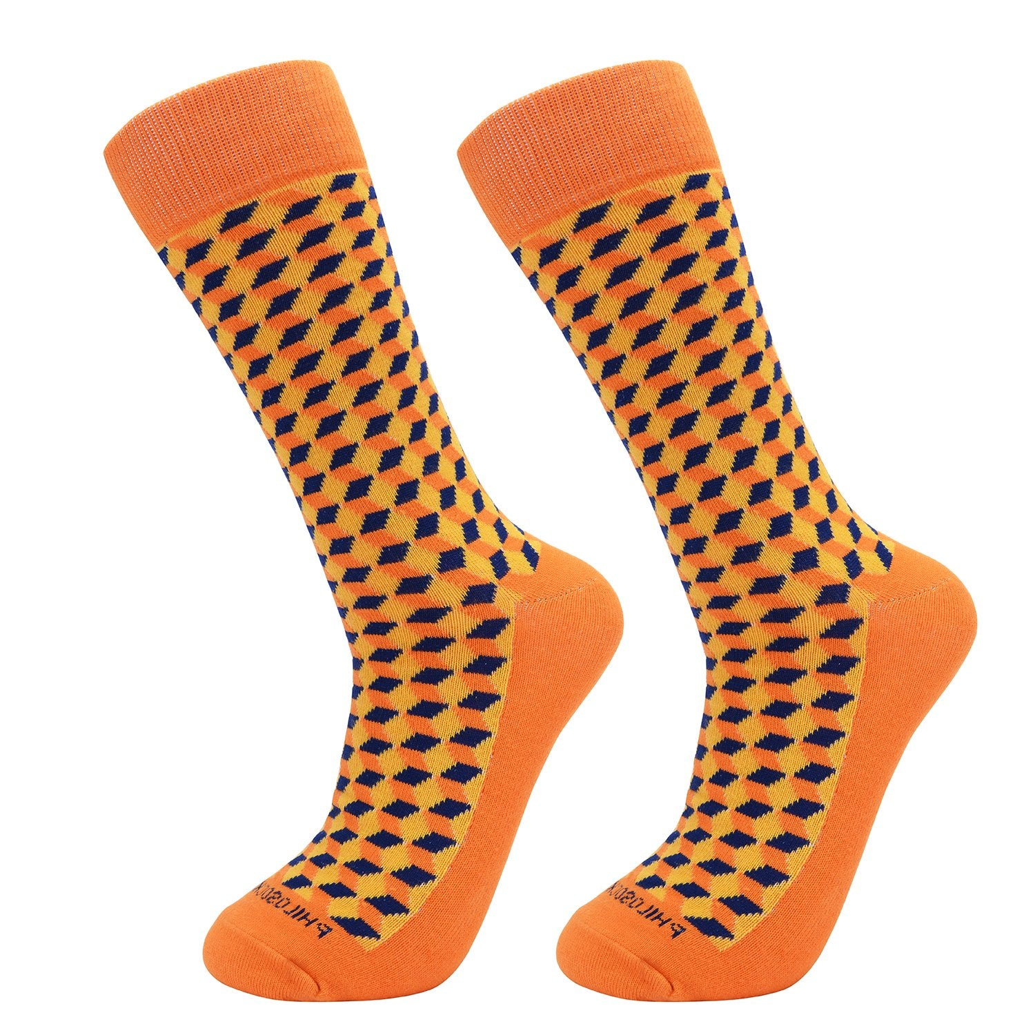 Socks-Squared-Cool-Patterns-Crew-Socks-Orange