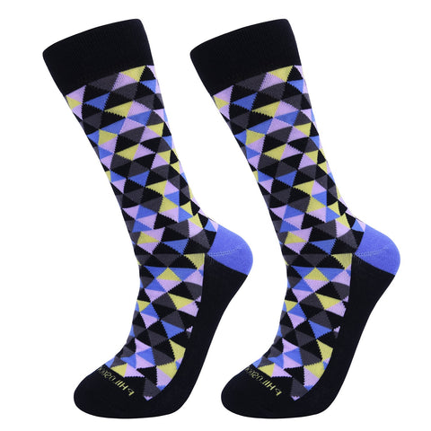 Socks-Trigons-Cool-Patterns-Crew-Socks-Purple