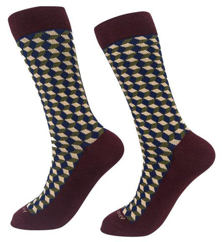 Socks-Squared-Cool-Patterns-Crew-Socks-brown