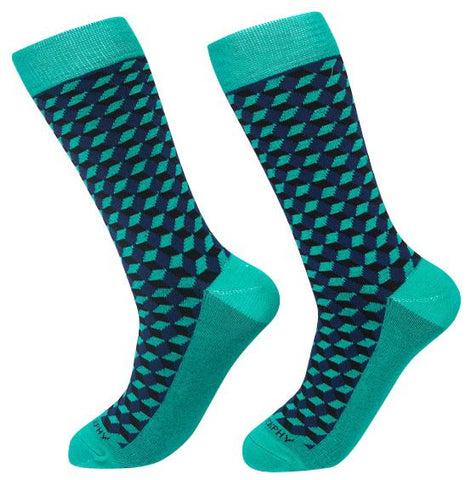 Socks-Squared-Cool-Patterns-Crew-Socks-teal