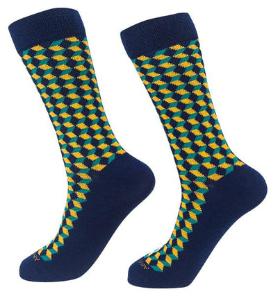 Socks-Squared-Cool-Patterns-Crew-Socks-yellow
