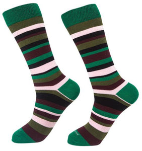 Socks-Standard-Stripes-Cool-Patterns-Crew-Socks-forest