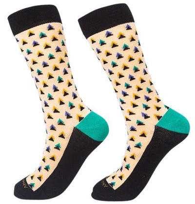 Socks-Triangle-Me-Cool-Patterns-Crew-Socks-cream