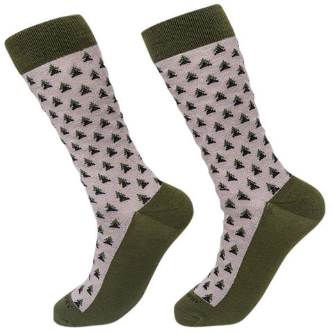 Socks-Triangle-Me-Cool-Patterns-Crew-Socks-green