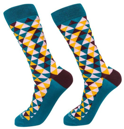 Socks-Trigons-Cool-Patterns-Crew-Socks-yellow