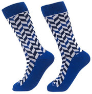 Socks-Very-Herringbone-Cool-Patterns-Crew-Socks-blue