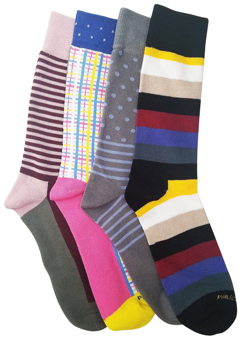 Socks - Assorted Socks (4 Pairs) - Spring Colors Everywhere