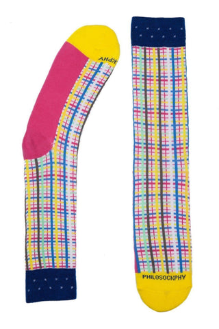 Socks - Bright Neon Patterned Socks By Philosockphy