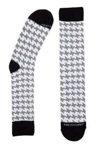 Socks - Houndstooth Patterned Socks By Philosockphy (Classic)