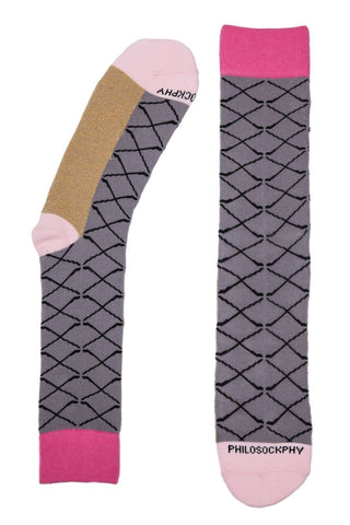 Socks - I M Golfing Patterned Socks By Philosockphy (Pink)