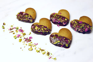 RECIPE: Pistachio Rose Brown Sugar Shortbread Cookies, a Sweet Surprise this Valentine's Weekend