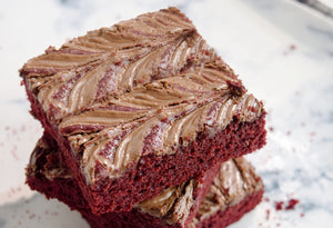 June's Kit: Orange Red Velvet Nutella Swirl Brownies