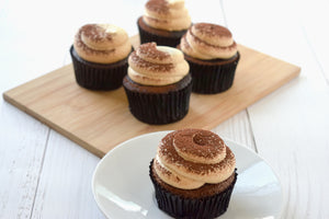 July's Kit: Eggless Chocolate Cupcakes with Coffee Whipped Topping