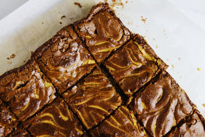 February's Kit: Peanut Butter Swirled Fudge Brownies