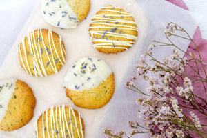 August's Kit: Lavender White Chocolate Cookies