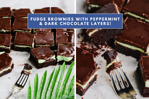 dark chocolate peppermint fudge brownies