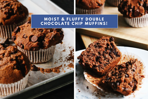 RECIPE: Our All-Time Favourite Double Chocolate Chip Muffin Recipe [Video Tutorial Included]