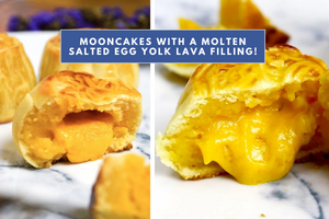 RECIPE: Baked Molten Salted Egg Yolk Lava Mooncakes Worthy of that #Foodporn Shot [Video Tutorial Included]