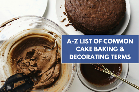 common cake baking terms