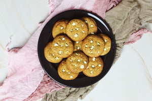 lavender earl grey white chocolate chip cookies
