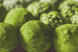 RECIPE: Make these decadent Matcha White Chocolate Truffles from scratch, with just FOUR ingredients!