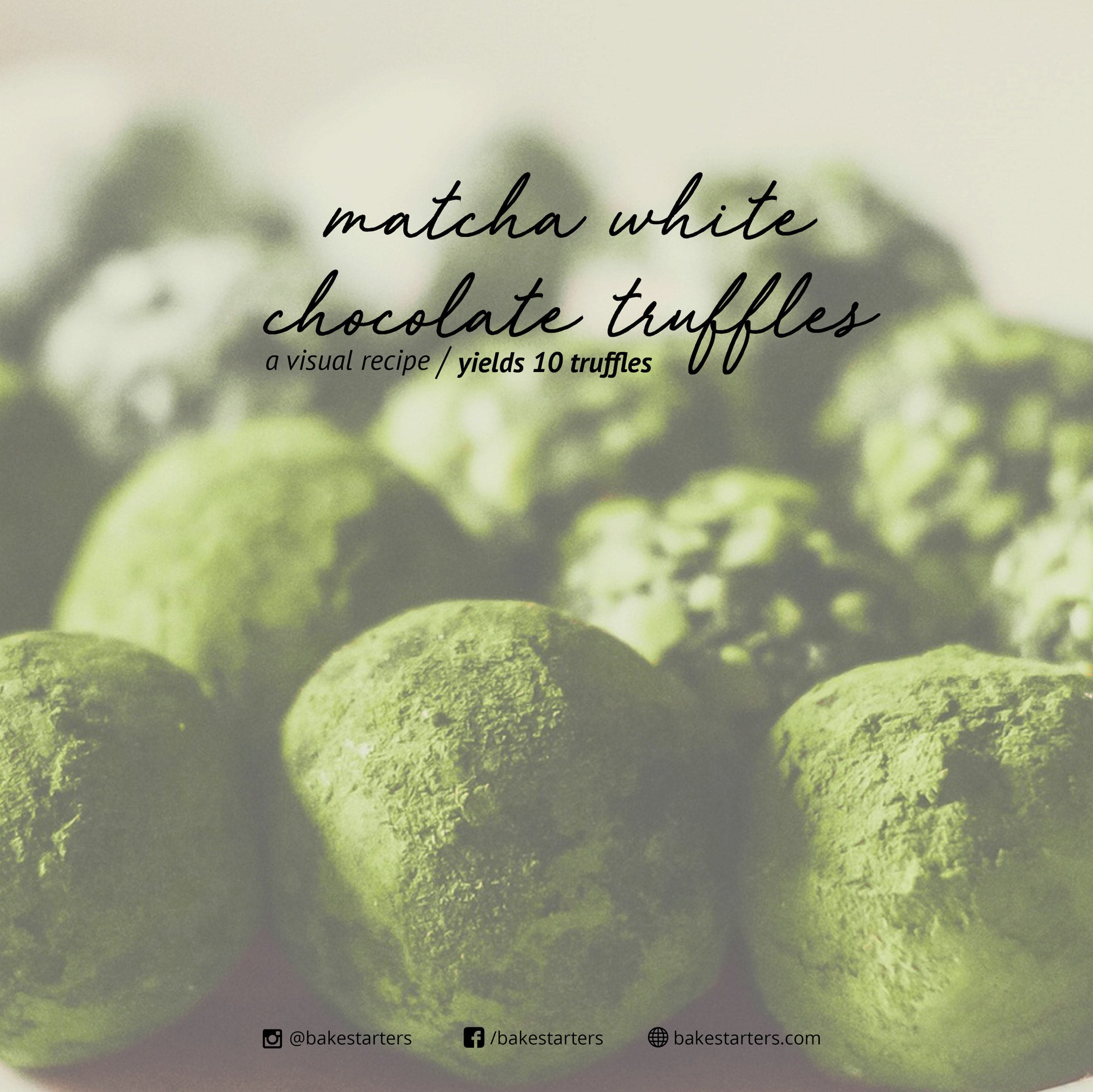 Matcha White Chocolate Truffles Recipe