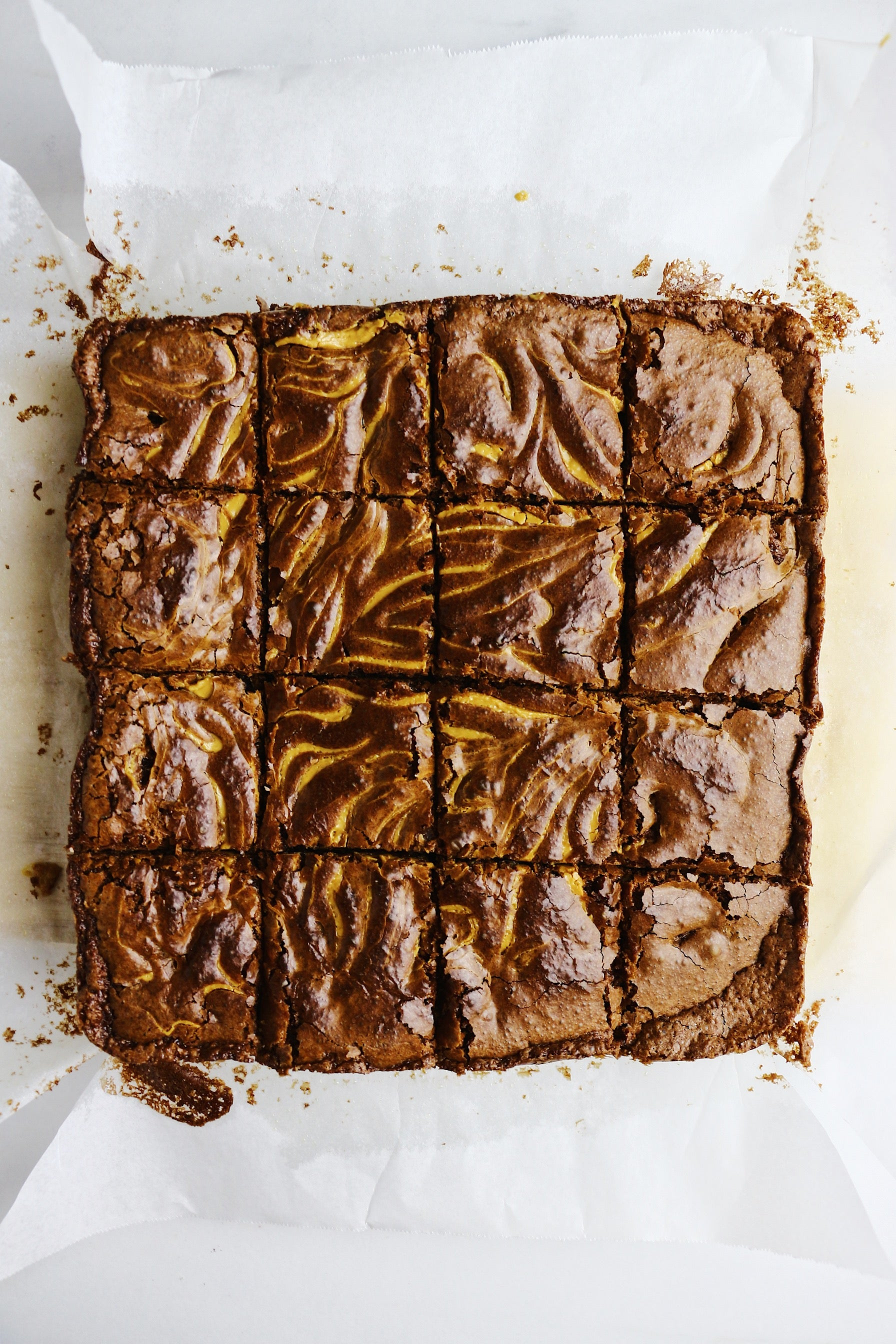 Peanut Butter Swirled Fudge Brownies