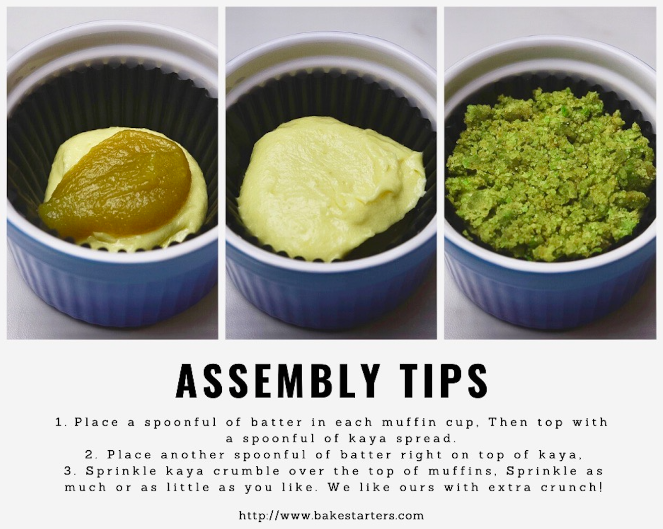 assembly tips for kaya muffins