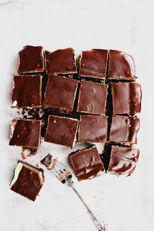 Chocolate Peppermint Fudge Brownies