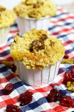Everyday We Streusellin' | Cranberry Yogurt Muffins w Walnut Streusel Ltd. Ed.