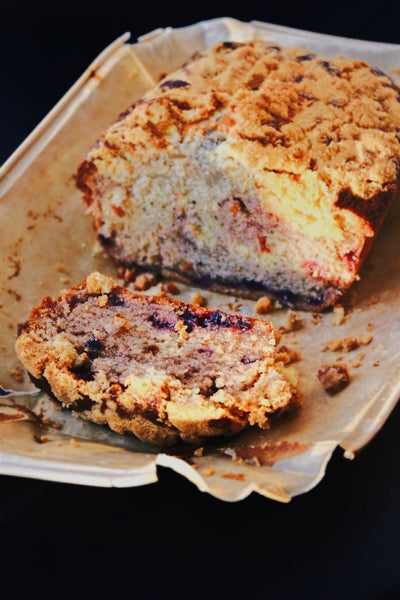 Blueberry Pie Crumble Loaf Cake