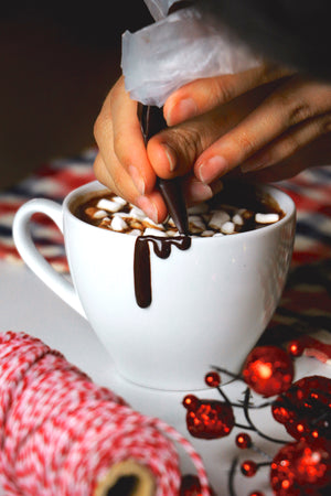 Creamy Belgian Hot Chocolate w/ Marshmallows (makes 2-4 servings)