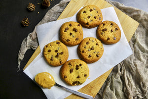 The Classic PB Cookie | Peanut Butter & Dark Chocolate Chip Cookies (~24 cookies)