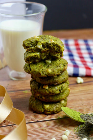 Mmh Matcha Say? | Matcha, Black Sesame & White Chocolate Chip Cookies (~24 cookies)