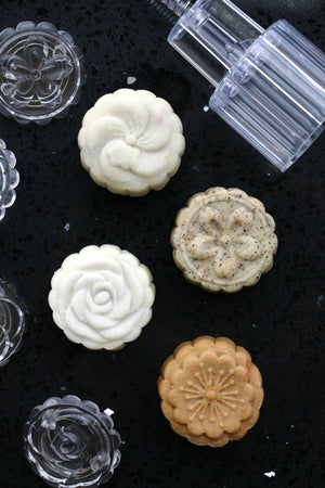 Mooncake Mold, Flower (50g–60g, 4 Designs)