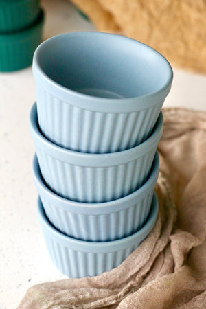 Baby Blue Matte Ramekins (Set of 4)