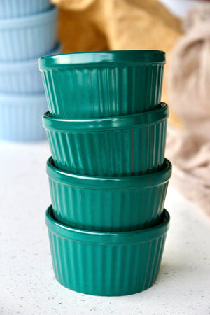 Teal Green Matte Ramekins (Set of 4)