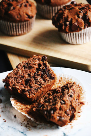 Double Chocolate Chip Muffins (Makes 12)
