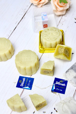 Earl Grey Lavender White Chocolate Truffle Snowskin Mooncake | makes 15 pieces (preorder)