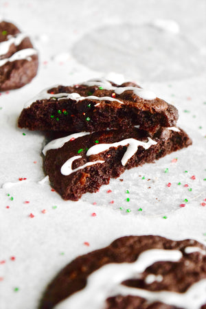 Double Chocolate Peppermint Soft-Baked Cookies